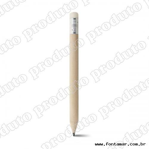 Meio lápis grafite com borracha